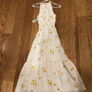 Artizia Effet White floral dress (Long)